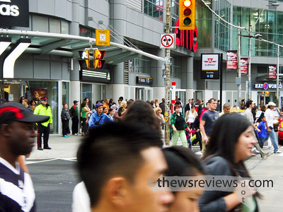 Scramble Intersection at Yonge Street and Dundas Avenue